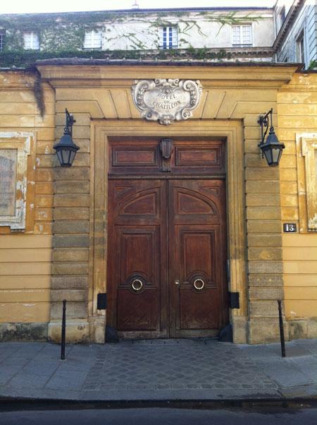L'hôtel de Chatillon - Le portail