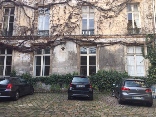 L'hôtel de Chatillon - La façade sur cour