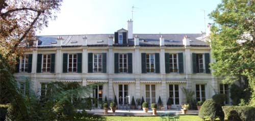 L'hôtel de Maillebois : la façade sur le jardin