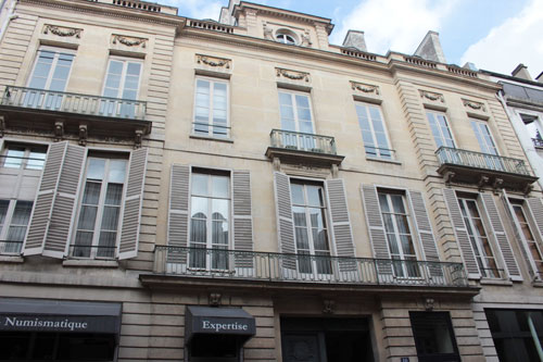 L'hôtel de Novilos : la façade sur rue