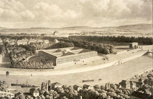 Le pojet de Palais des Archives dessiné par Cellerier