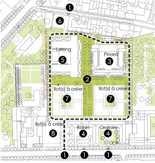 Le projet Saint-Vicent de Paul : plan des aménagements prévus