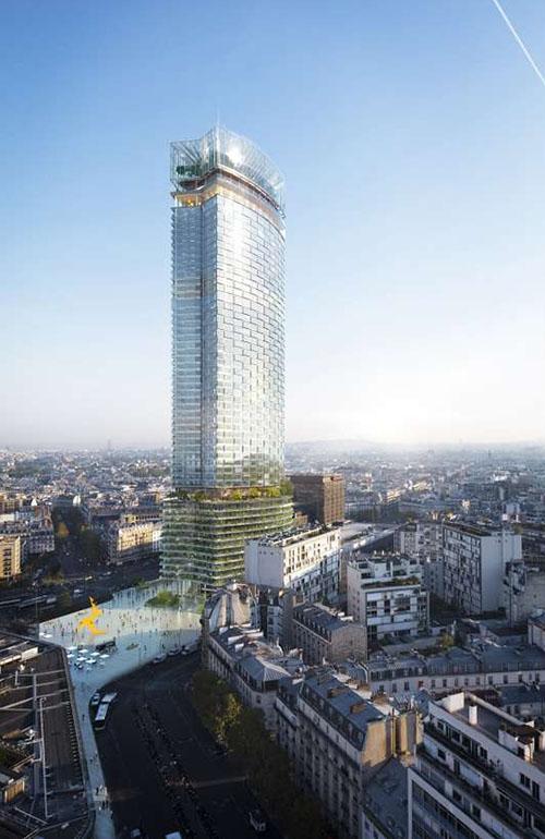 Un nouveau parvis sera créé entre la tour Montparnasse et la gare Montparnasse