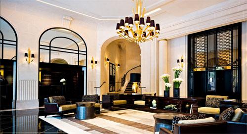 L'hôtel Prince de Galles : le lobby