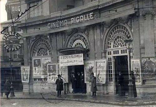 Le cinéma Pigalle : la façade inspirée de l'architecture française du XVIIIe siècle