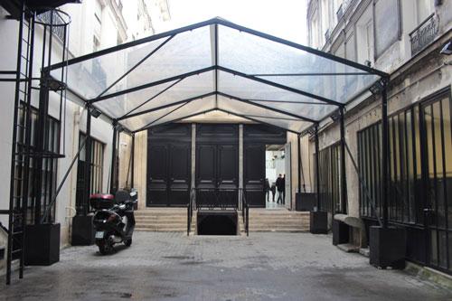 La fondation Azzedine Alaïa : la façade sur cour