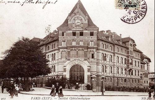 La fondation ophtalmologique Rothschild - carte postale ancienne