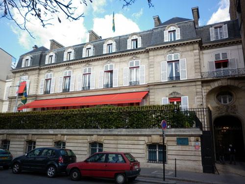 L'hôtel Schneider : la façade donnant sur le cours Albert 1er