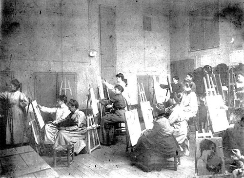 L'académie Calarossi : séance dans un atelier