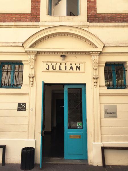 L'entrée de l'académie Julian