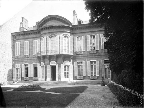 L'hôtel d'Orrouer : la façade sur le jardin