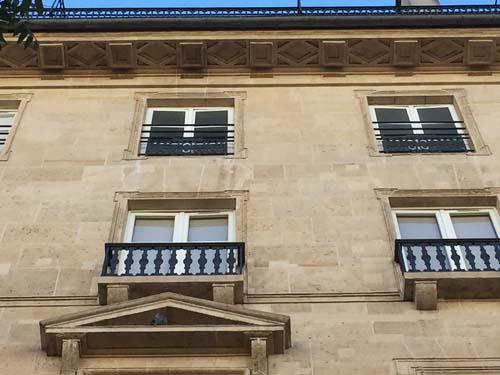 L'hôtel Cellerier - Détail de la corniche