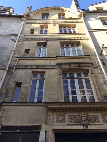 L'hôtel de Chatillon : la façade sur la rue