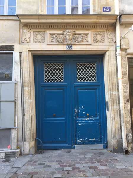 L'hôtel de Chatillon : le portail