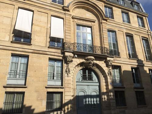 L'hôtel de Montalivet - La façade sur la rue