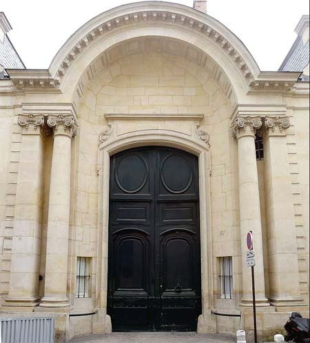 L'hôtel d'Orrouer - Le grandiose portail sur rue
