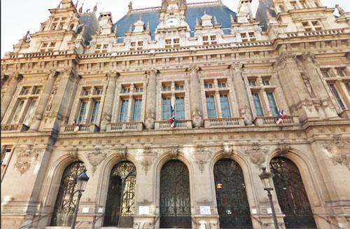 La mairie du 10e arrondissement : la façade sur la rue du faubourg Saint-Martin