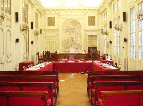 La mairie du 10e arrondissement : la salle des mariages