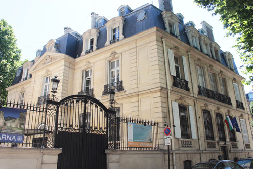 L'hôtel des Monstiers-Mérinville : la façade donnant sur la cour