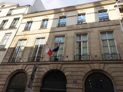 Le centre culturel tchèque - La façade sur la rue Bonaparte