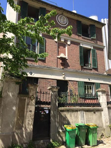 La cité Jandelle : la maison en brique au n°12