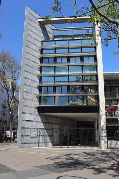 Le collège André Citroën : l'entrée