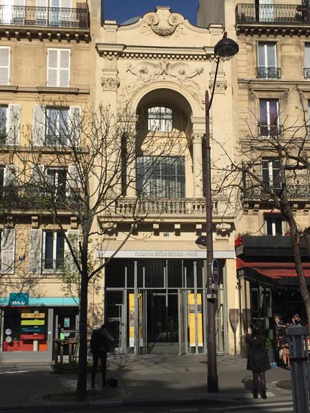 La fondation Jérome Seydoux-Pathé : la façade de l'ancien théâtre des Gobelins a été conservée