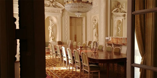 L'hôtel de La Tour d'Auvergne : la salle à manger