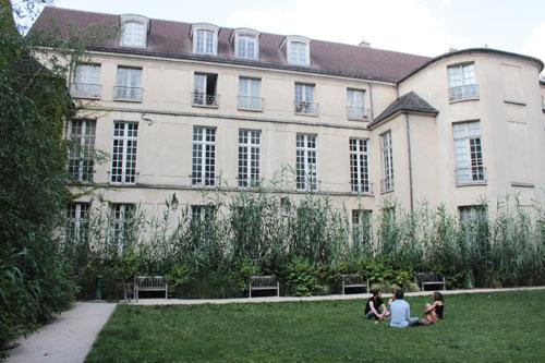 L'hôtel de Coulanges : la façade sur le jardin