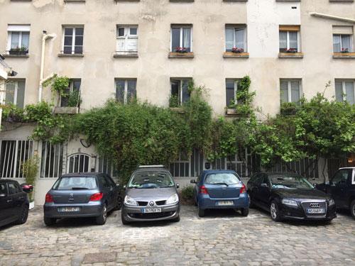Cour artisanale Rue Basfroi : la cour au fond de la parcelle