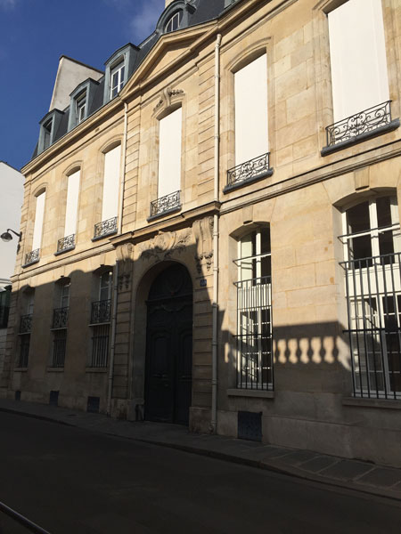 L'hôtel du Prat - Façade sur la rue