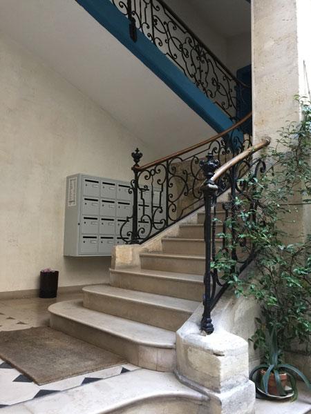 La maison Le Tellier : l'escalier d'époque Louis XV