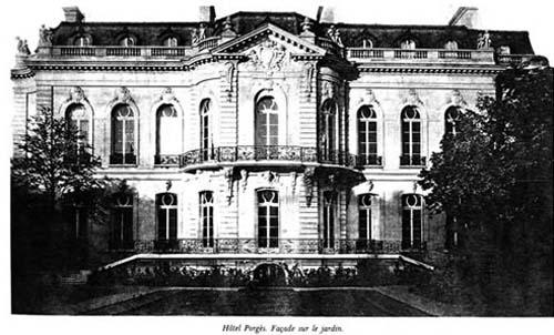 L'hôtel Porgès - La façade sur jardin
