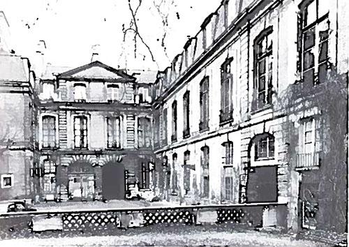 L'hôtel du Prat : la façade sur cour