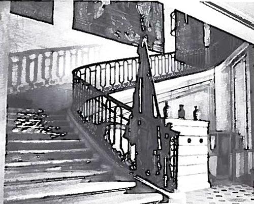 L'hôtel du Prat : l'escalier d'honneur