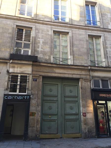L'hôtel Titon : le bâtiment sur rue, remanié au XIXe siècle