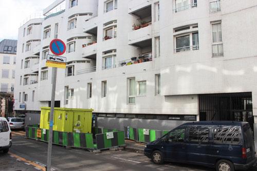 Ensemble de logements, façade rue Barbanègre