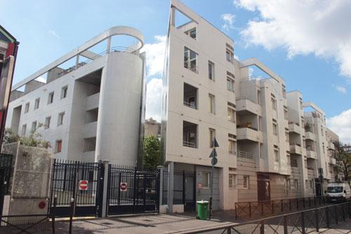 Ensemble de logements - Façade sur la rue Barbanègre