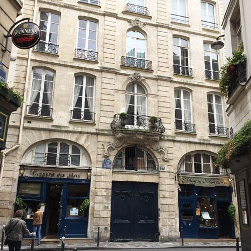 La maison des Trois Chapelets : la façade sur rue