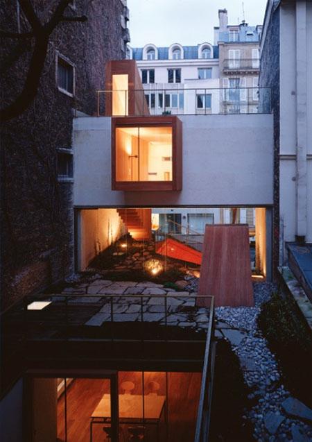 La maison Galvani : façade sur le jardin