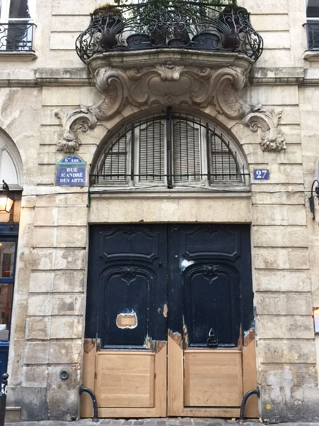 la maison des Trois Chapelets : le balcon rocaille