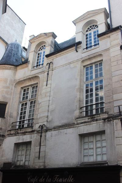 L'hôtel des abbés de Fécamp : détail de la façade