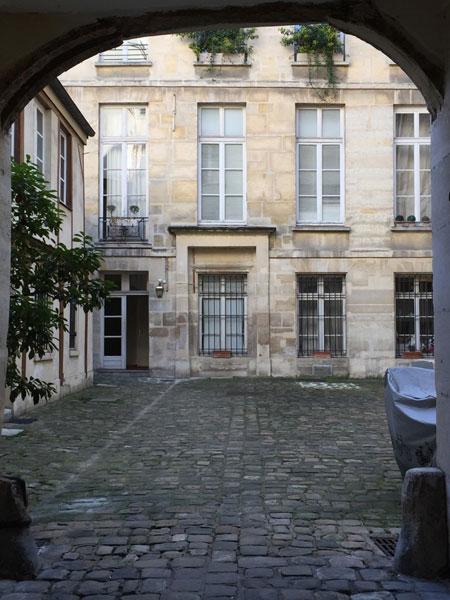 L'hôtel d'Argenson - La façade sur la cour