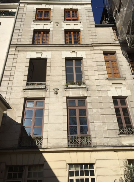 L'hôtel de Laffemas : la façade sur cour