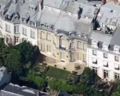 L'hôtel de Lannion - Vue aérienne de la façade sur le jardin