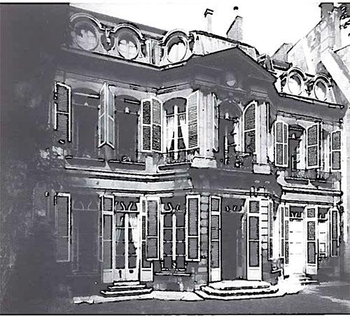 L'hôtel de Lannion : la façade sur le jardin
