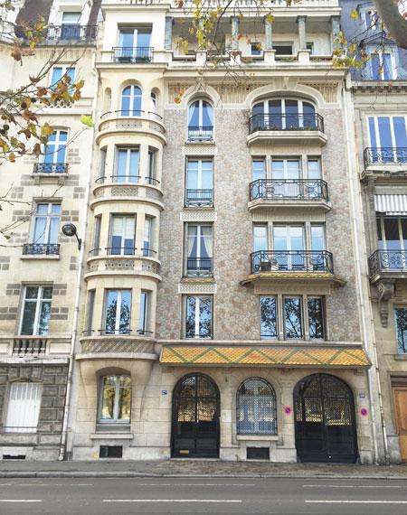 Immeuble Art nouveau Quai Anatole France