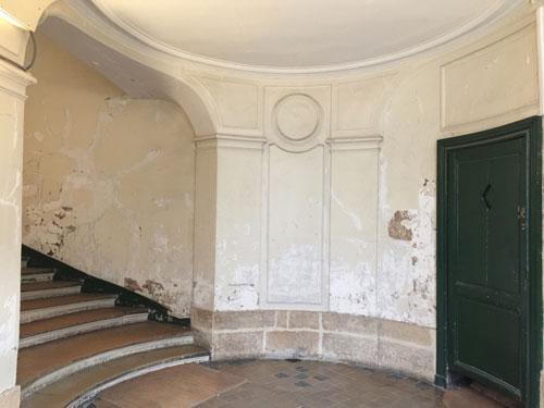 La maison Mariette : le vestibule ovale