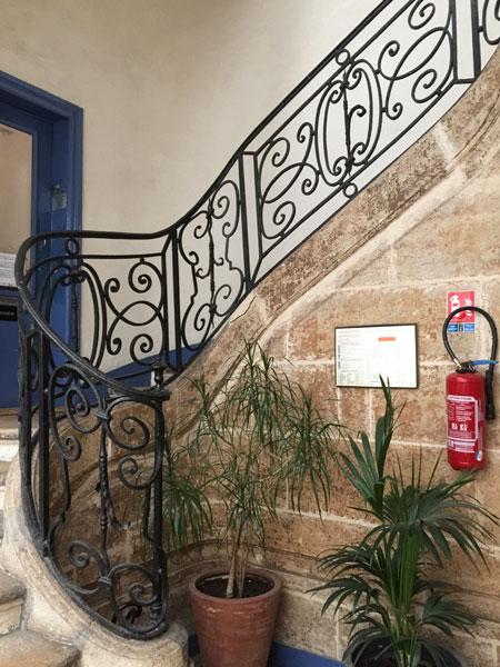 La maison Mariette : l'escalier du 1er bâtiment
