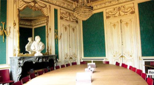 L'hôtel Blémont : l'un des salons verts